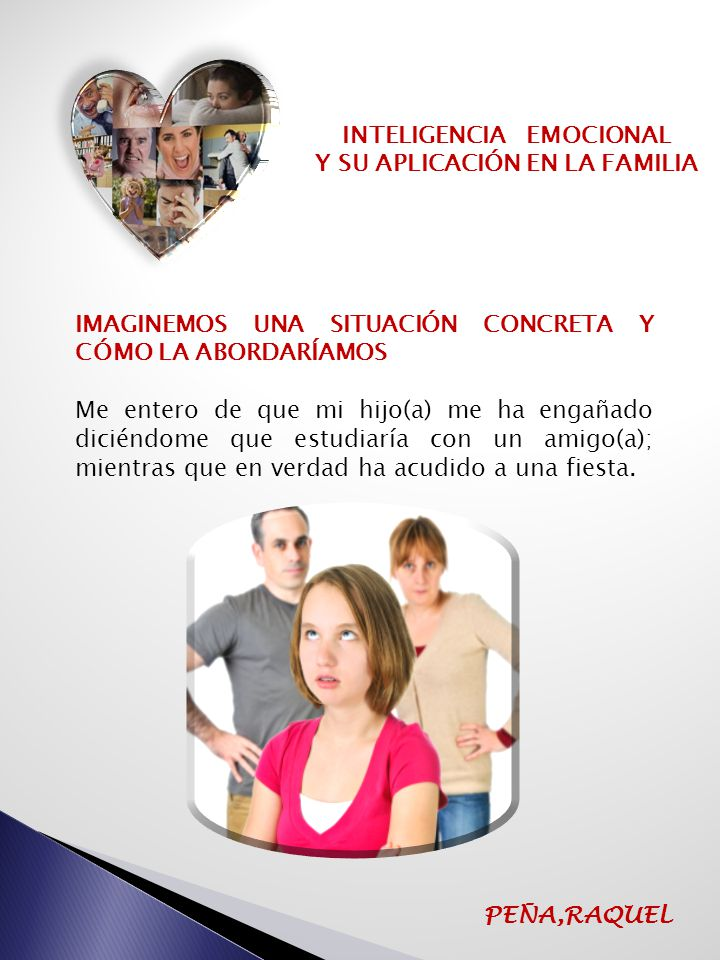 INTELIGENCIA EMOCIONAL Y SU APLICACIÓN EN LA FAMILIA