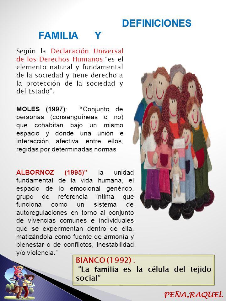 FAMILIA Y DEFINICIONES