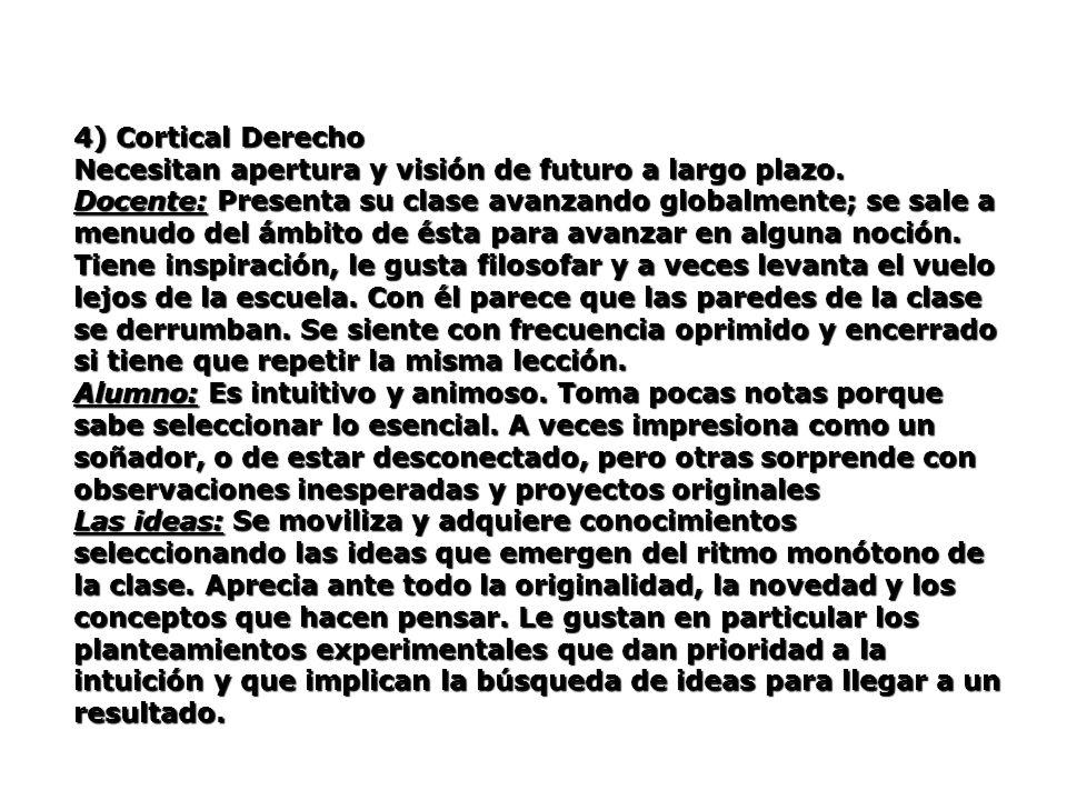 4) Cortical Derecho Necesitan apertura y visión de futuro a largo plazo.