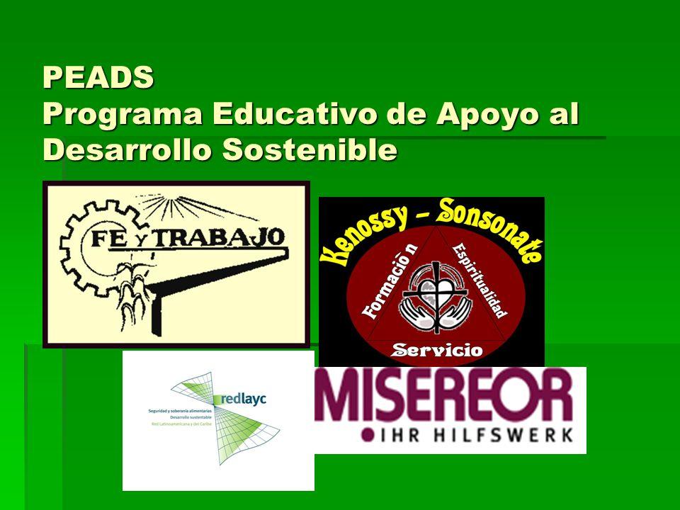 PEADS Programa Educativo de Apoyo al Desarrollo Sostenible