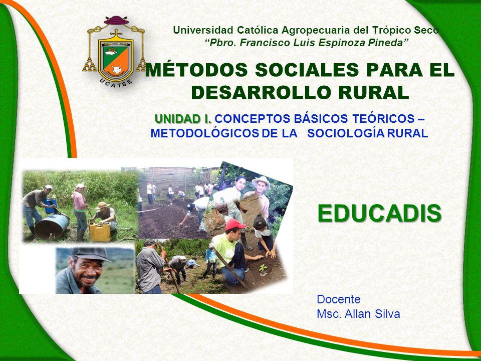 MÉTODOS SOCIALES PARA EL DESARROLLO RURAL