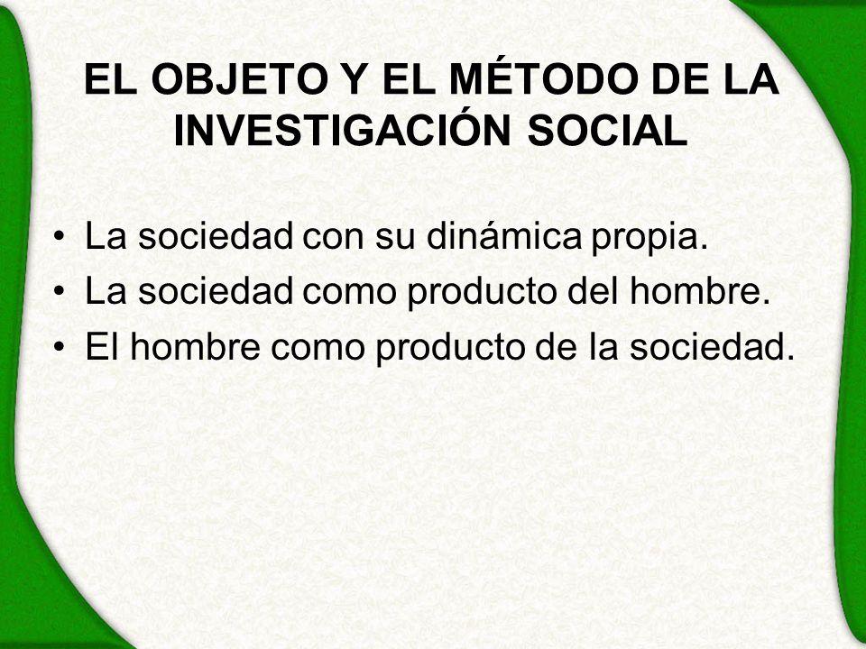 EL OBJETO Y EL MÉTODO DE LA INVESTIGACIÓN SOCIAL