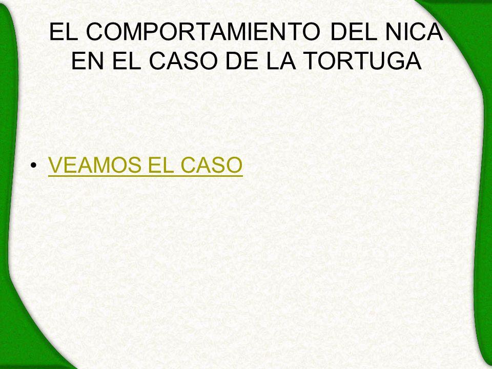 EL COMPORTAMIENTO DEL NICA EN EL CASO DE LA TORTUGA