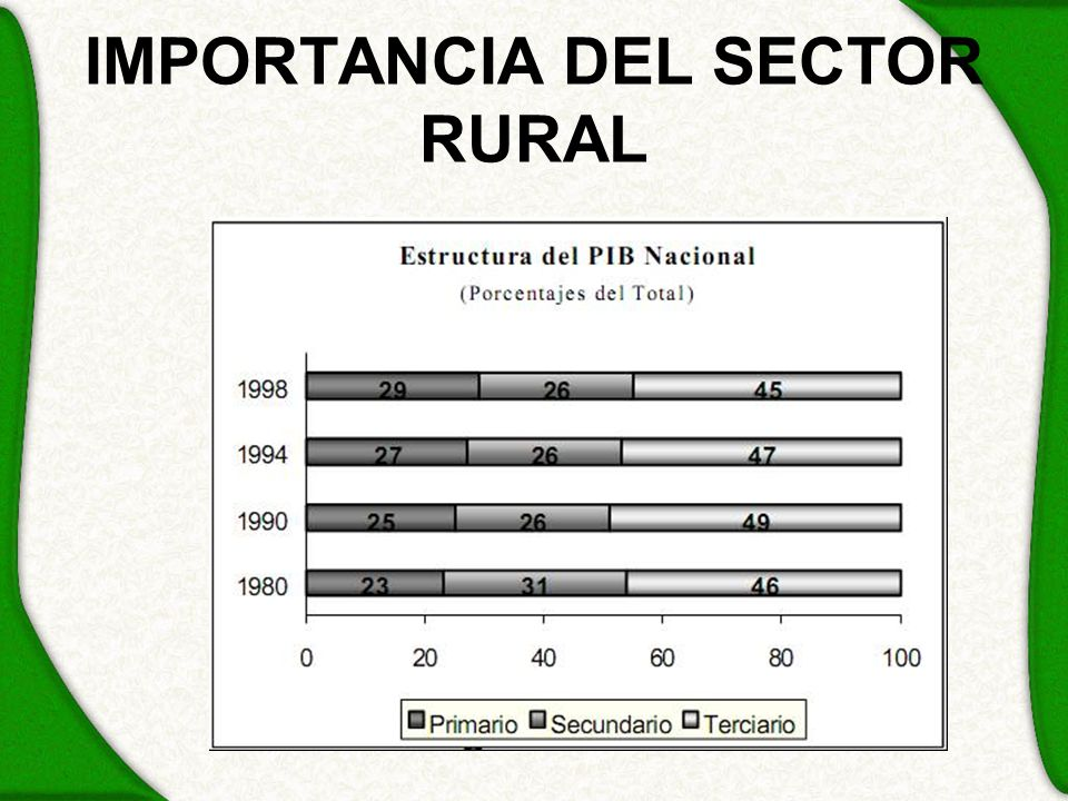 IMPORTANCIA DEL SECTOR RURAL