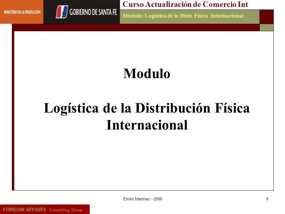Logística de la Distribución Física Internacional