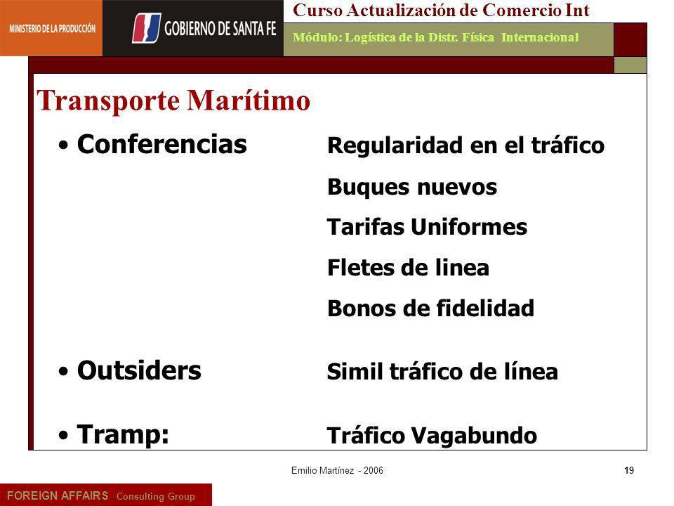 Transporte Marítimo Conferencias Regularidad en el tráfico