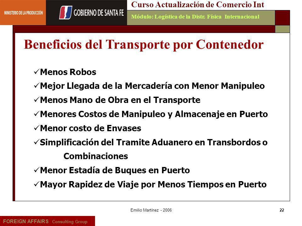Beneficios del Transporte por Contenedor