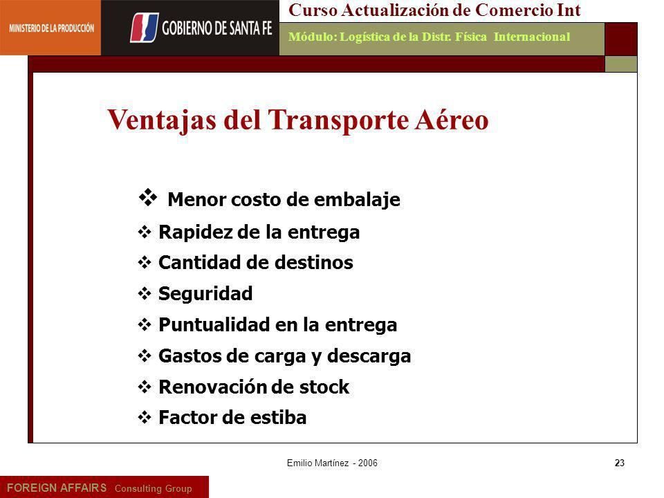 Ventajas del Transporte Aéreo