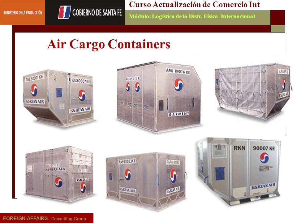 Air Cargo Containers Curso Actualización de Comercio Int