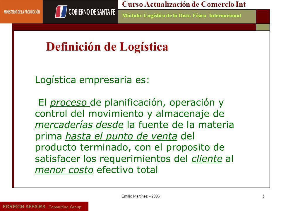 Definición de Logística