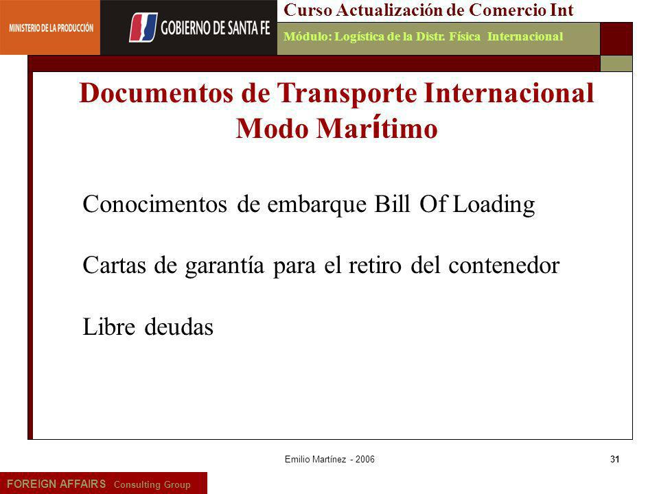 Documentos de Transporte Internacional