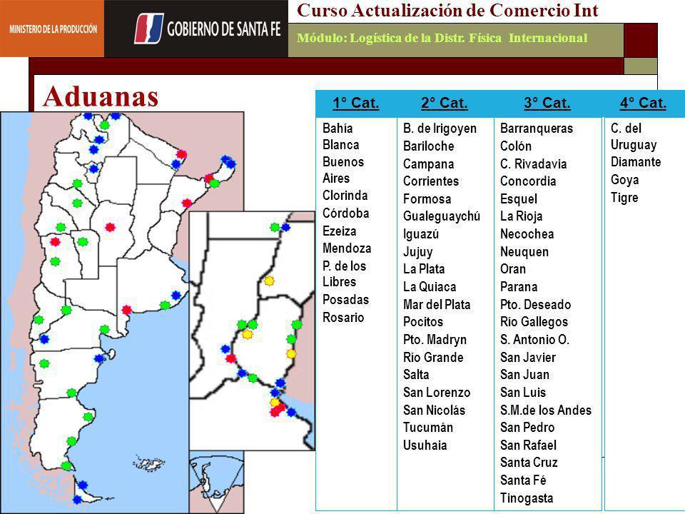Aduanas Curso Actualización de Comercio Int 1° Cat. 2° Cat. 3° Cat.