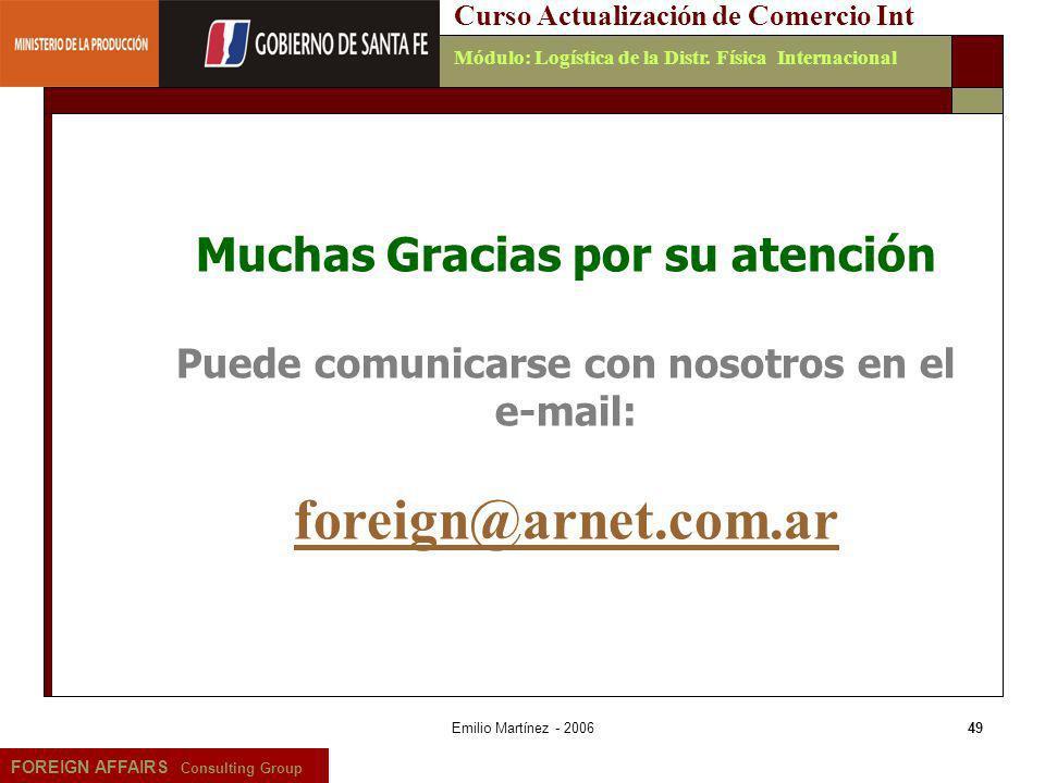 foreign@arnet.com.ar Muchas Gracias por su atención