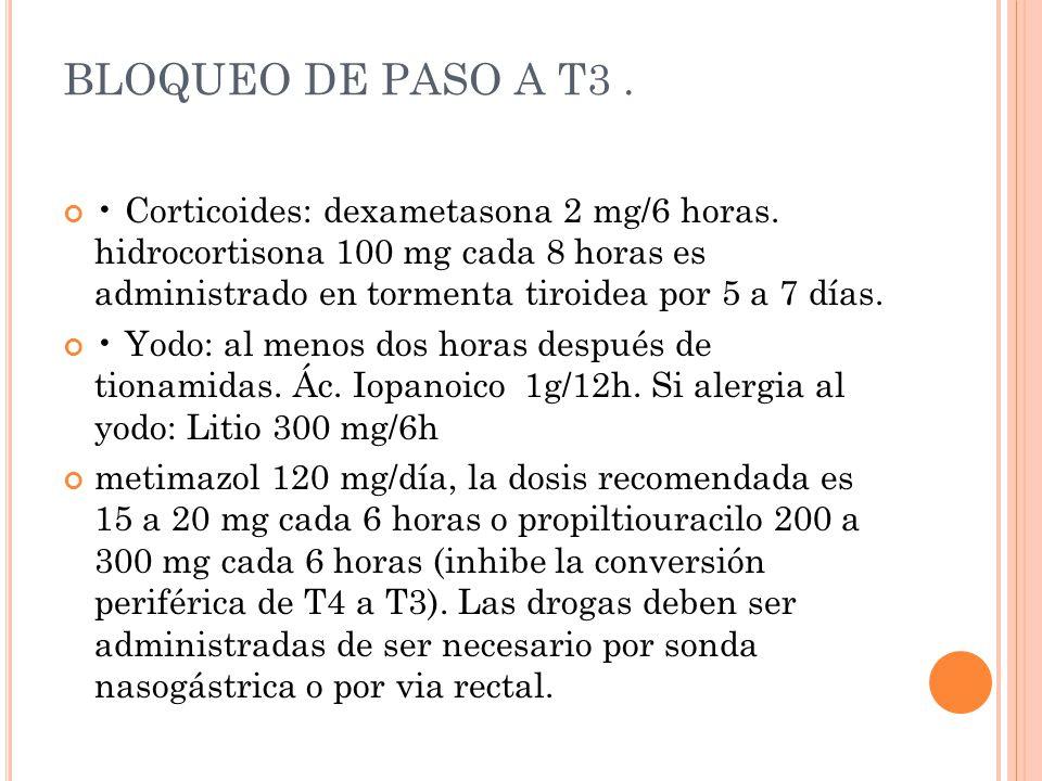 BLOQUEO DE PASO A T3 .