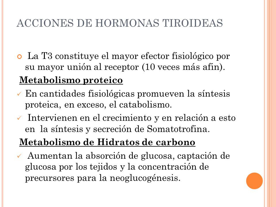 ACCIONES DE HORMONAS TIROIDEAS