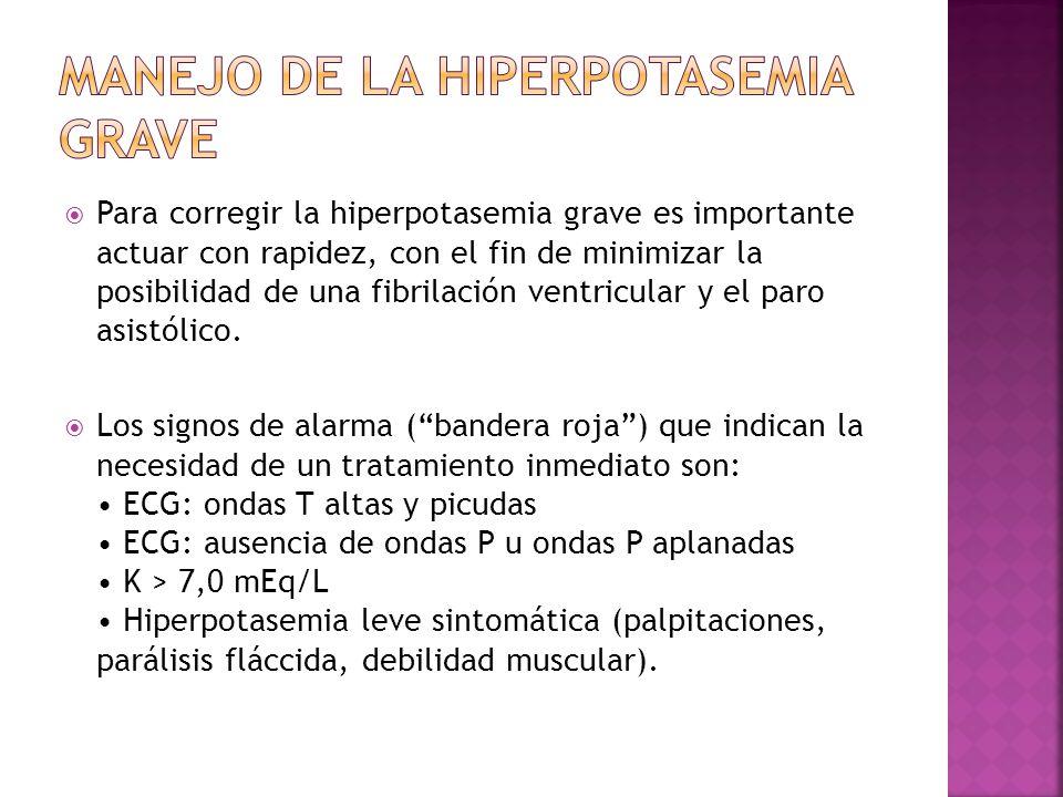 Manejo de la hiperpotasemia grave