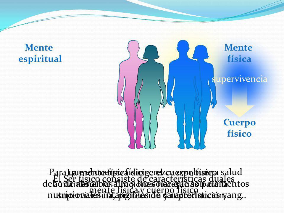 Mente espiritual Mente física Cuerpo físico