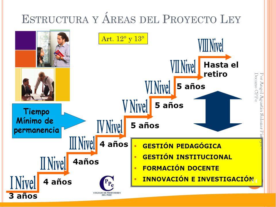 Estructura y Áreas del Proyecto Ley
