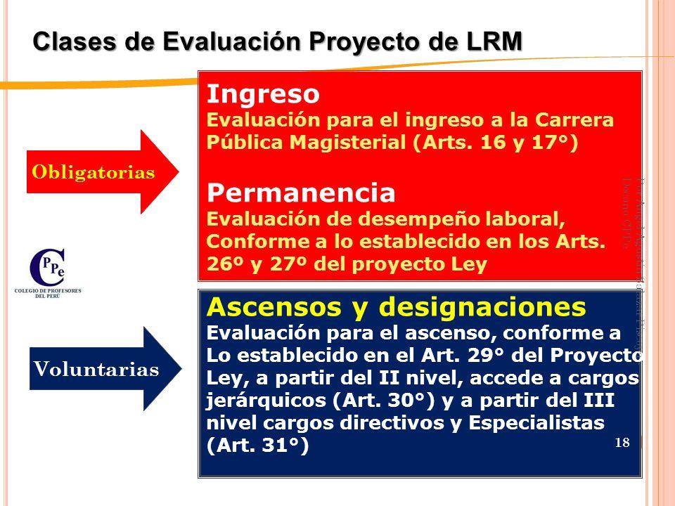 Clases de Evaluación Proyecto de LRM