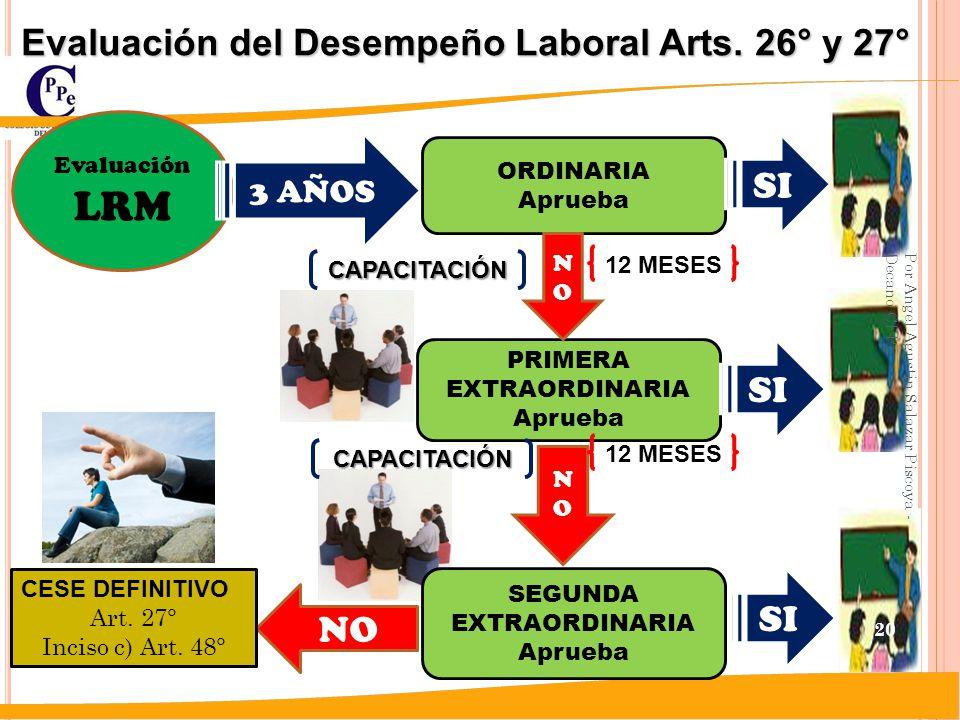 LRM Evaluación del Desempeño Laboral Arts. 26° y 27° SI SI SI NO