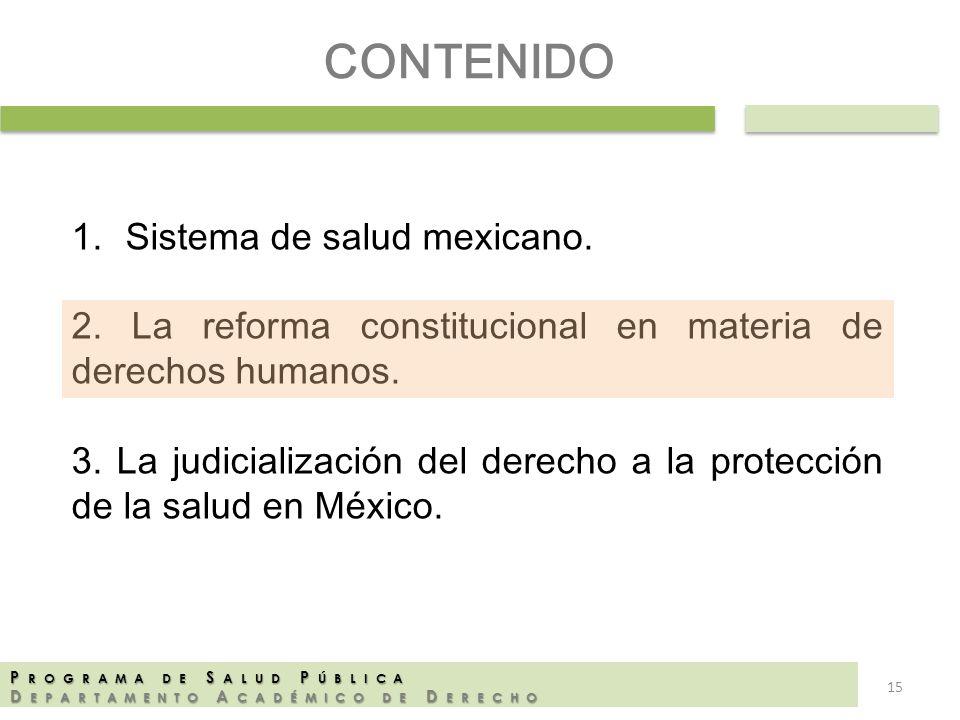 CONTENIDO Sistema de salud mexicano.