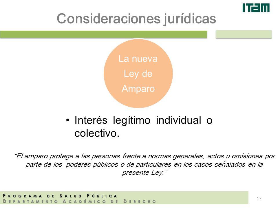Consideraciones jurídicas
