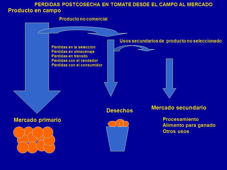Producto en campo Mercado secundario Desechos Mercado primario