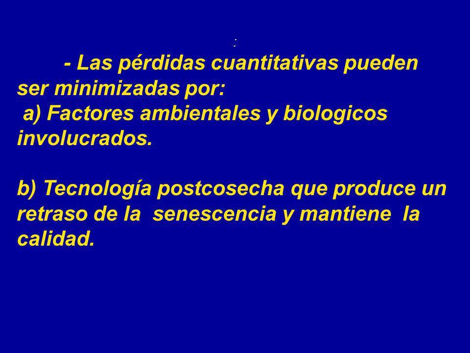 a) Factores ambientales y biologicos involucrados.