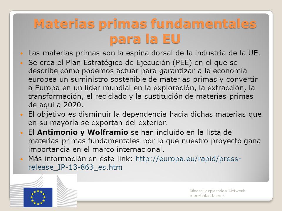 Materias primas fundamentales para la EU