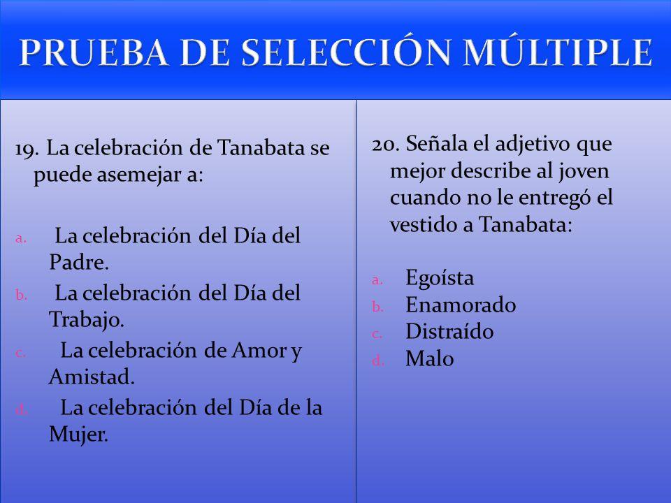 PRUEBA DE SELECCIÓN MÚLTIPLE