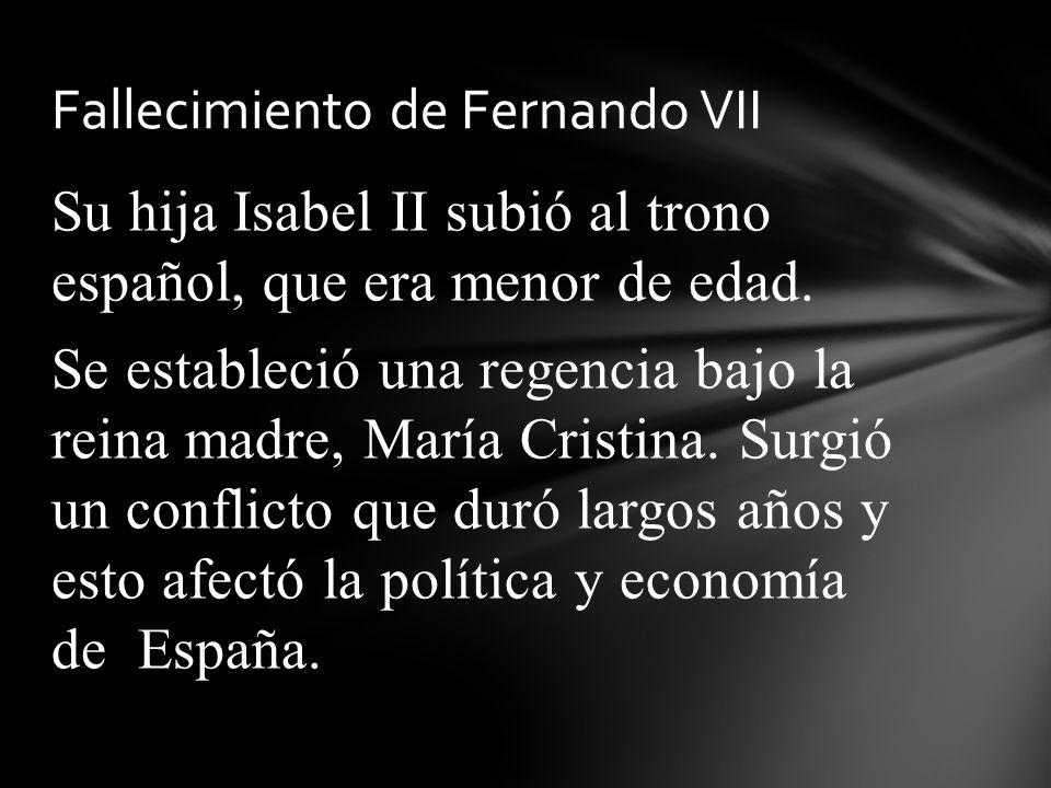 Fallecimiento de Fernando VII