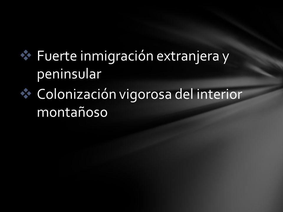 Fuerte inmigración extranjera y peninsular