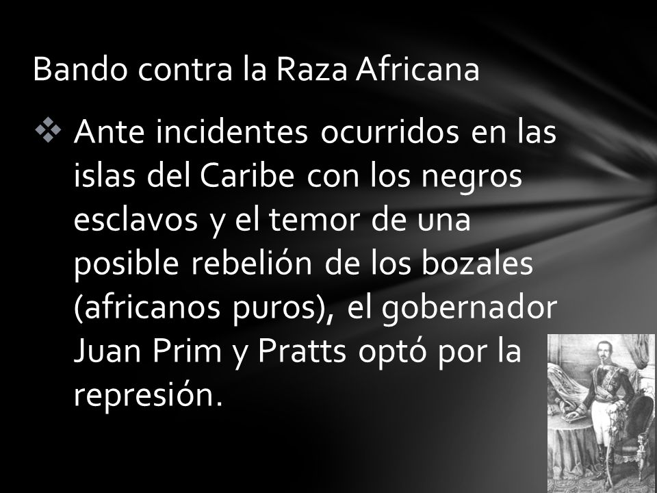 Bando contra la Raza Africana