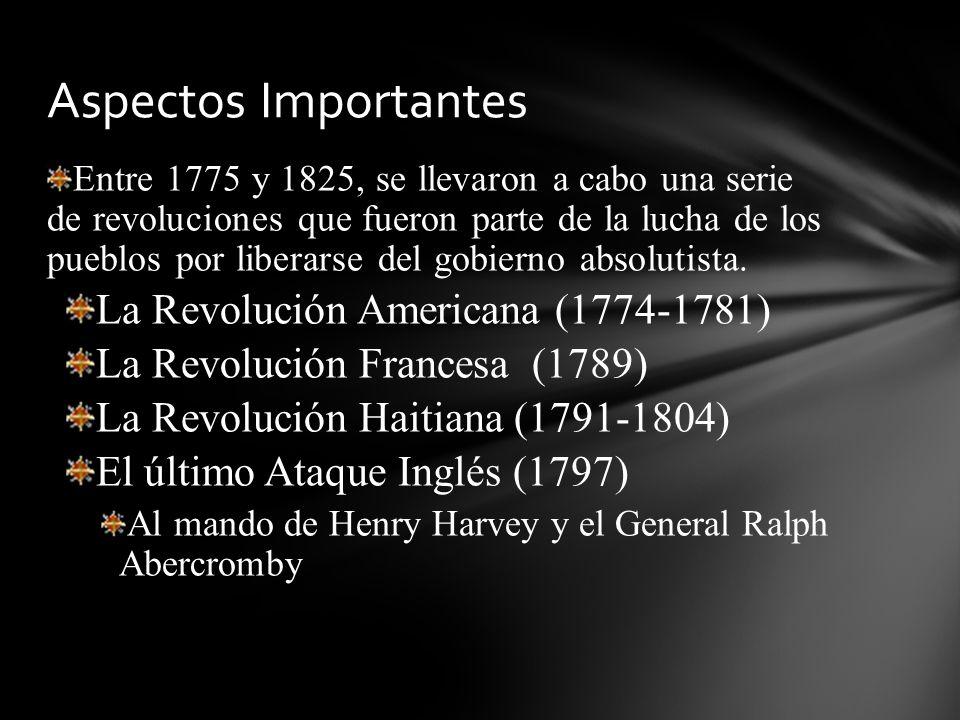 Aspectos Importantes La Revolución Americana (1774-1781)
