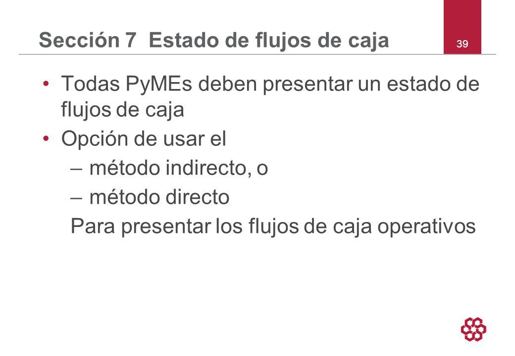 Sección 7 Estado de flujos de caja