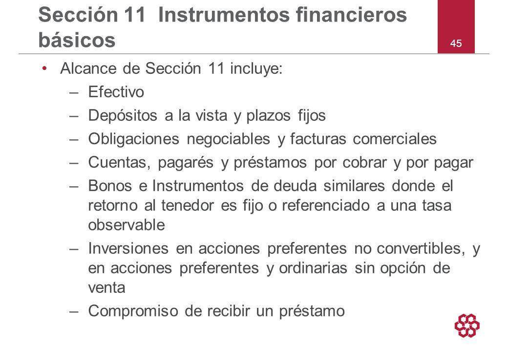 Sección 11 Instrumentos financieros básicos