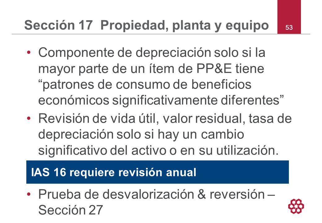 Sección 17 Propiedad, planta y equipo