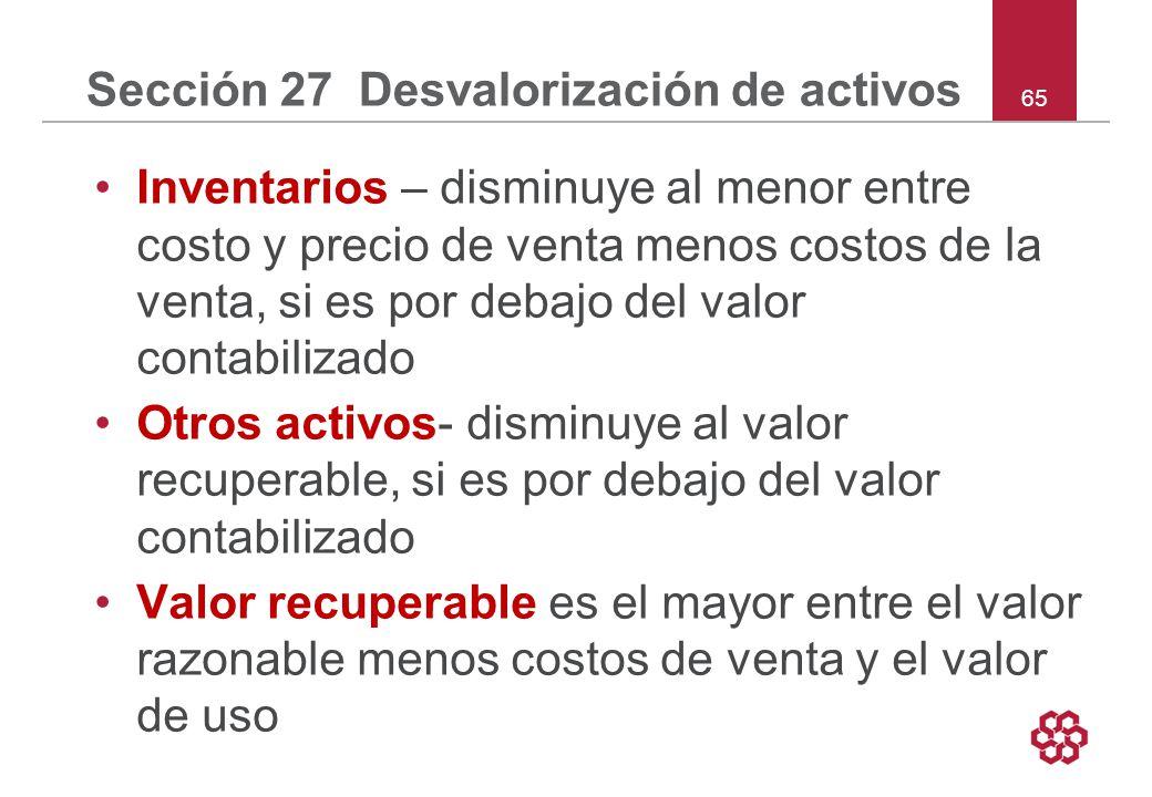 Sección 27 Desvalorización de activos