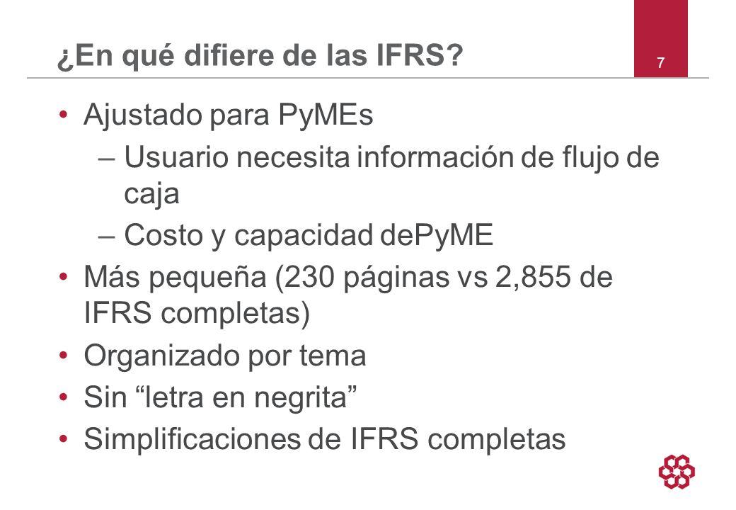 ¿En qué difiere de las IFRS