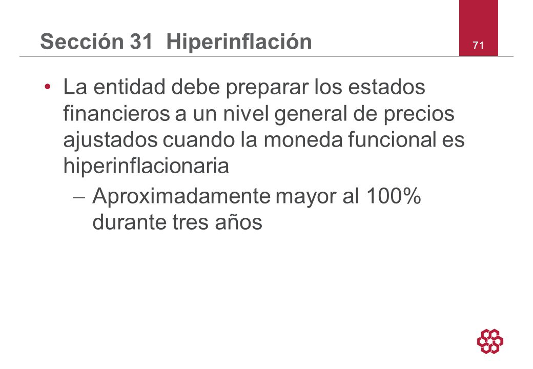 Sección 31 Hiperinflación
