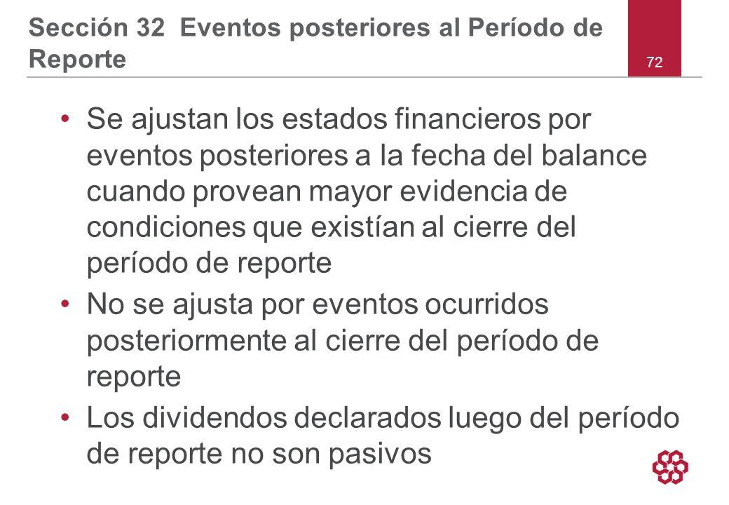 Sección 32 Eventos posteriores al Período de Reporte