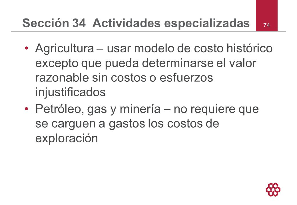 Sección 34 Actividades especializadas