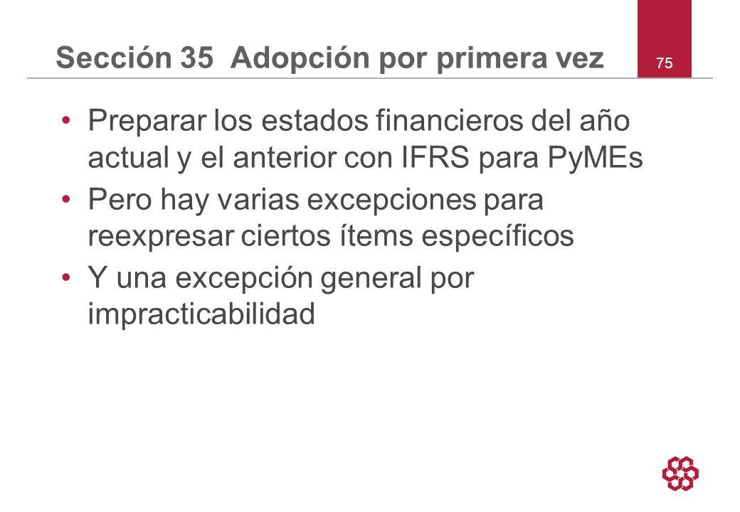 Sección 35 Adopción por primera vez