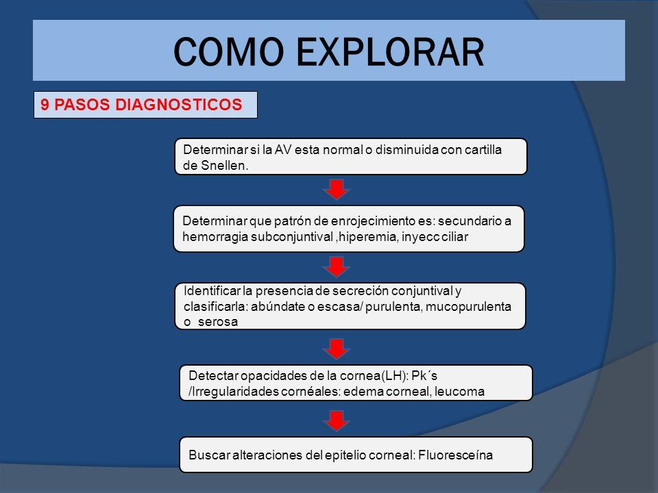 COMO EXPLORAR 9 PASOS DIAGNOSTICOS