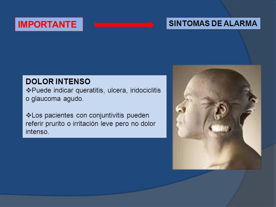 IMPORTANTE SINTOMAS DE ALARMA DOLOR INTENSO