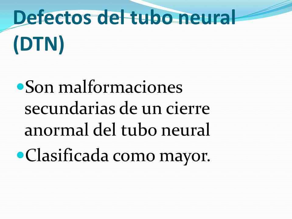 Defectos del tubo neural (DTN)