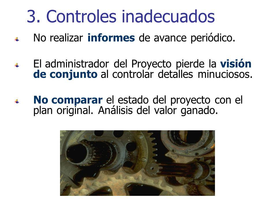 3. Controles inadecuados