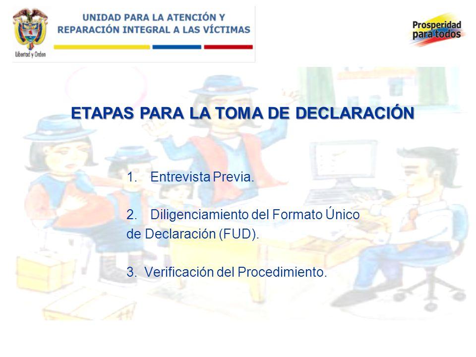 ETAPAS PARA LA TOMA DE DECLARACIÓN