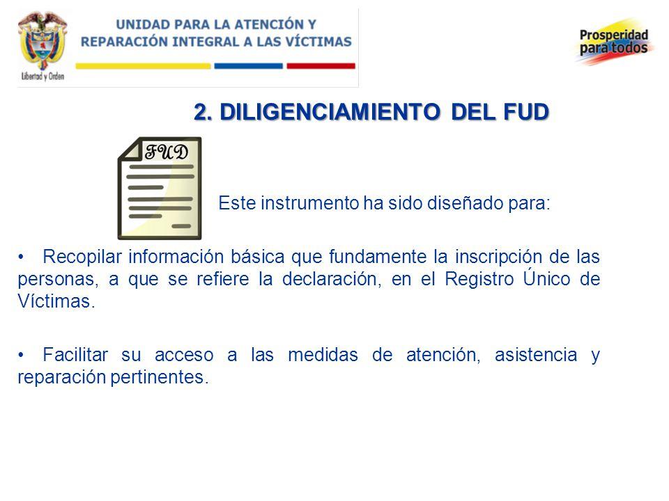 2. DILIGENCIAMIENTO DEL FUD