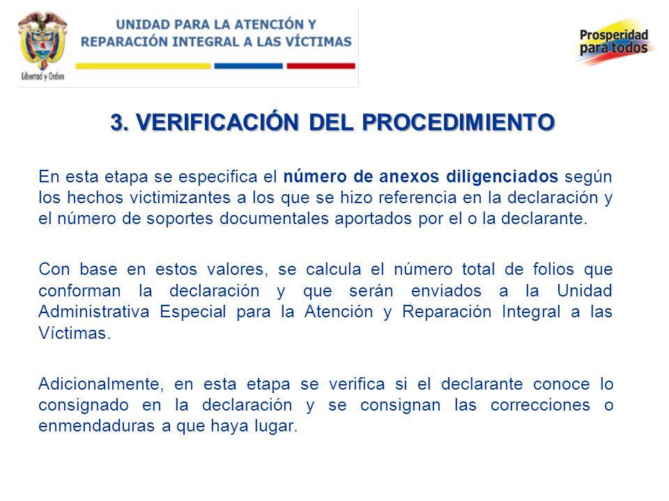 3. VERIFICACIÓN DEL PROCEDIMIENTO